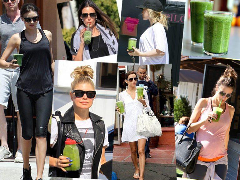 El zumo verde de las famosas
